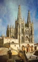 Fotografía vertical de la Catedral de Burgos nº01