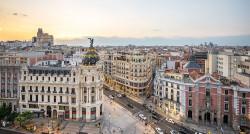 Cuadro panorámico de la Gran Vía y la Calle Alcalá de Madrid nº09