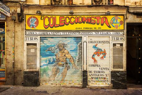 Cuadro fachada El Coleccionista de Comics Madrid nº01