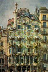 Cuadro vertical de La Casa Batlló en Barcelona nº01