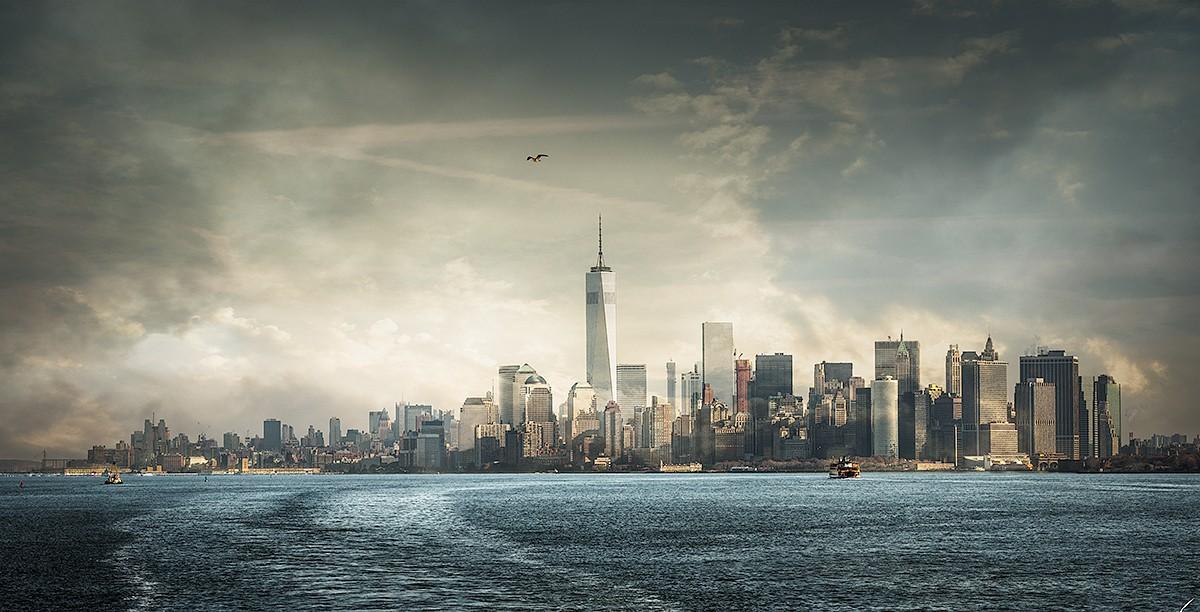 Cuadro Nueva York (desde el ferry) nº01