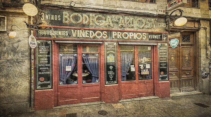 Cuadro Bodega de la Ardosa en Madrid