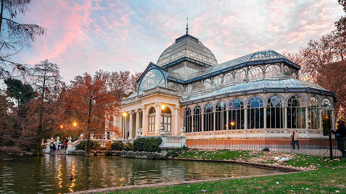 Cuadro del Palacio de Cristal del Retiro de Madrid