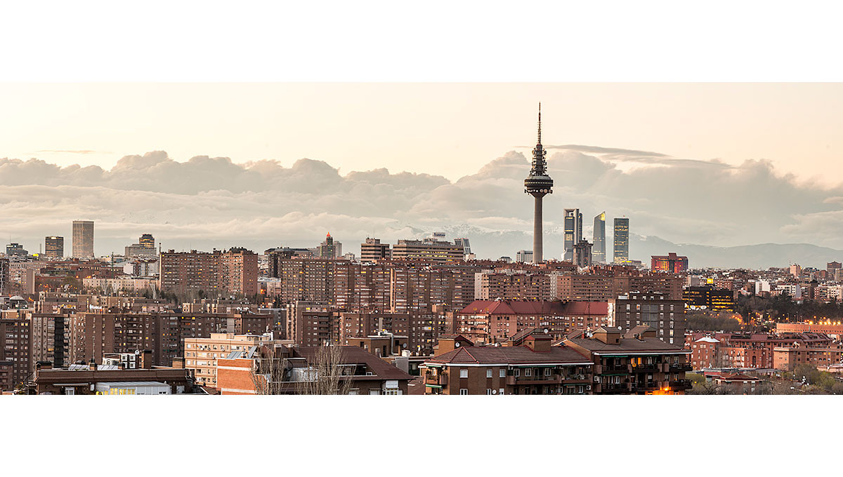 Cuadro panorámico de Madrid