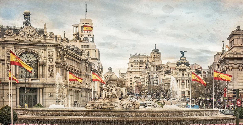 Cuadro fuente de Cibeles de Madrid